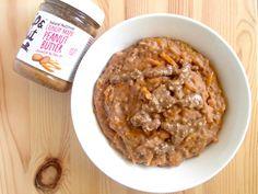 Maple Butternut Squash Porridge @ www.skatingtomato.com #Cheap #Healthy #Vegan Butternut Squash, Skating, Originals, Peanut Butter, Oatmeal, Vegan, Healthy, Breakfast, Recipes