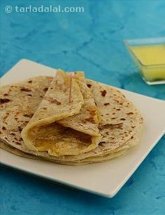 Puranpoli is a traditional maharashtrian dish, and variants of it are made all over the country. It is a wholesome and delicious snack made of chana dal and coconut sweetened with jaggery and flavoured mildly with spices like elaichi. While it is festive fare, it can be made any day when you feel like making something special.