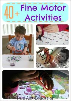 40+ Fine Motor Activities to strengthen little hands!