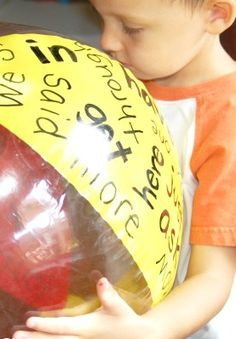 Kinetic Sight Word Activity... With a Beach Ball | Kids Activities Blog