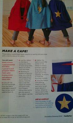 Making a no sew cape