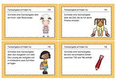 Sachrechnungen Aufgabenkarten 4. Kl.