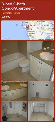 3-bed 2-bath Condo/Apartment in Palmetto, Florida ►$99,900 #PropertyForSaleFlorida http://florida-magic.com/properties/44890-condo-apartment-for-sale-in-palmetto-florida-with-3-bedroom-2-bathroom