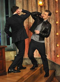 When their elbows ever so gently touched. | 19 Times Justin Timberlake And Jimmy Fallon Literally Saved The World