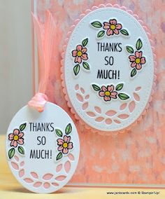 Hello, Crafters.   This  morning I uploaded my That's the Tag Thank You Card video which features the card I shared here  last Thursday.   I...