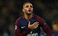 Download wallpapers Layvin Kurzawa, 4k, PSG, footballers, Ligue 1, soccer, Paris Saint-Germain, Liga 1