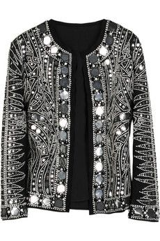 Balmain Embellished collarless jacket | THE OUTNET