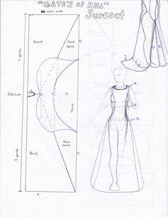 Blue print for Surcoat by Persphonefallen.deviantart.com on @deviantART