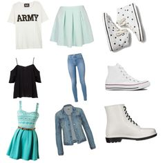 3 outfits just for u? by mariamzaghari5 on Polyvore featuring polyvore, beauty, NLST, Keds, Converse and Circus By Sam Edelman