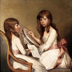 Anna Dorothea And Charlotte Anna Dick by Gilbert Stuart