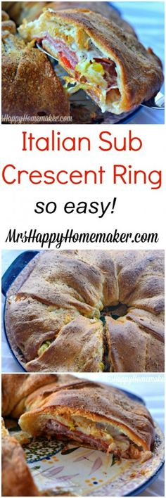 If you're a huge lover of Italian Subs like I am, you're going to love this Italian Sub Crescent Ring. It's so yummy & it's ready in 30 minutes.