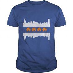Awesome Tee Irish Chicago Skyline Flag TShirt Shirts & Tees