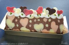 Chocolate Strawberry Heart Cake Roll
