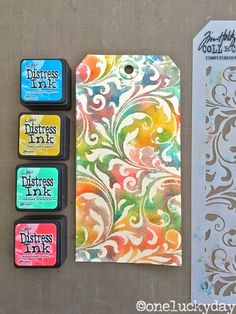 One Lucky Day: Distress Ink Minis - set #13 (2015 new colors, 1stQ)