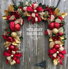 Wreaths, Arrangements and More for Every Occasion by HolidayBaublesWreath Christmas Swags, Christmas Themes, Christmas Holidays, Christmas Crafts, Holiday Decor, Holiday Ideas, Tulle Wreath, Xmas Decorations, Flower Arrangements