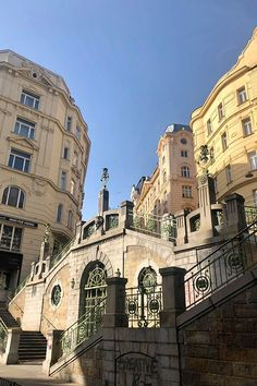 Historic staircase as a symbol of famous Art Nouveau architecture in Vienna. Austria, Art Nouveau, Online Travel, Architecture, Location, Travel Guide, Places To Visit, Louvre, Street View