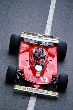 Gilles Villeneuves Ferrari at the Monaco Grand Prix Ferrari F1, Ferrari Daytona, Ferrari Racing, F1 Racing, Road Racing, Lamborghini, Auto F1, Audi, Porsche