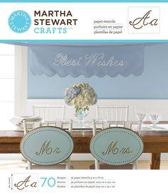 "This might be helpful for my wedding Plaid: Craft Martha Stewart Large Paper Stencils 9""X7.5"" 35 Sheets/Pkg""-Script Alphabet 70 Designs $15.22 on Amazon"