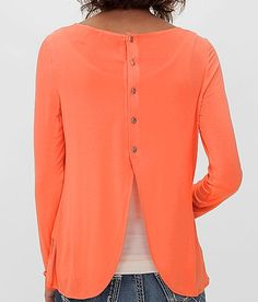 BKE red Scalloped Top