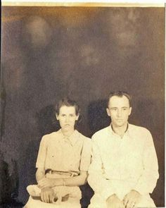 Background Faces  Not sure of the date..somewhere in the 1940's I'm guessing...it's of my great uncle and aunt...don't know much about him ..what I do know is he was very heavy into seances.    --Clayton