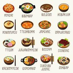 K Food, Love Food, Food Porn, Korean Street Food, Korean Food, Cute Food Art, Korean Language, Food Drawing, Food Illustrations