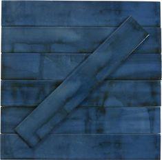 "Bistro Koolir Blue 2"" x 14"" Glossy Porcelain Subway Tile Tile Installation, Traditional Looks, Retro Home, Porcelain Tile, Outdoor Pool, Subway Tiles, Grout, Size 2, Coupon"