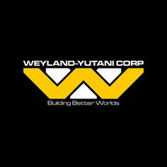 Fictional company from the Alien franchise, this logo uses both the W and Y, from the companies name, layered on top of each other to create the logo. the layering and the font used allows this logo to fit into the fictional world of Alien.