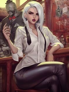 Ashe - Overwatch by Mirco Cabbia - Best anime list Overwatch Comic, Overwatch Tattoo, Overwatch Drawings, Overwatch Fan Art, Fanart Overwatch, Team Fortress 2, Fantasy Characters, Overwatch Memes, Sexy Cartoons