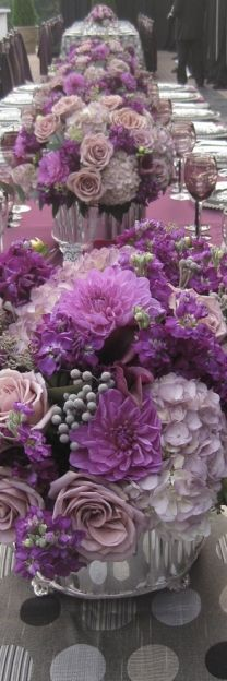 How pretty! would love a purple wedding ♥