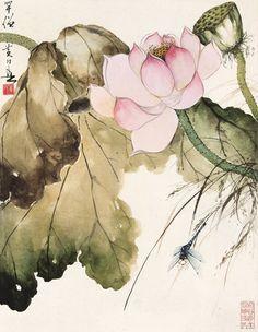 #MasterHuangHuanWu #ChineseInkPainting #SumieLotus Japan Painting, Lotus Painting, Ink Painting, Lotus Art, Chinese Brush, China Art, Korean Painting, Chinese Painting, Hoa Sen