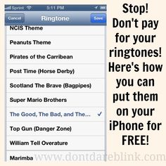 Tutorial: How To Put New Ringtones On Your iPhone for Free | Don't Dare Blink