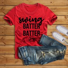 Swing Batter Batter Shirt//Baseball Shirt//Baseball Mom Shirt//Baseball Shirt for Her by ThePineappleWay on Etsy Valentine Shirts, Girls Valentine Outfits, Funny Valentine, Valentine Crafts, Hipster Tattoo, Valentinstag Shirts, Baseball Season, Vinyl Shirts, Tee Shirts