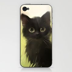 Savage Cat iPhone & iPod Skin by Rihards Donskis -