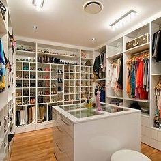 Walk-in closet. Now a Lady can dream!!!