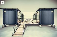 The Builder For Shipping Container Homes Is Here Modern shipping container homes Tiny House Guest House Modular Homes Airbnb House Container Hotel, Container Shop, Sea Container Homes, Building A Container Home, Container Buildings, Container Architecture, Container House Plans, Sustainable Architecture, Contemporary Architecture