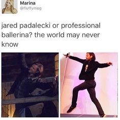 I think he actually mentioned during a con that he did take some ballet classes