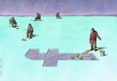 Thought-Provoking Facebook Illustrations by Pawel Kuczynski | Inspiration Grid | Design Inspiration