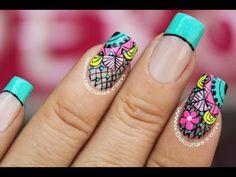 Como Hacer Manicure Vitral y Geometrico- HogarTv por Juan Gonzalo Angel Short Nail Designs, Toe Nail Designs, Wow Nails, Pretty Nails, Stiletto Nail Art, Acrylic Nails, Mandala Nails, Flower Nails, Simple Nails