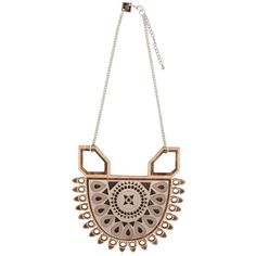 ANISHA PARMAR LONDON Maharani Wooden Necklace (20900 RSD) ❤ liked on Polyvore featuring jewelry, necklaces, rose, adjustable necklace, wood chain necklace, chain jewelry, chain necklaces and wooden necklace