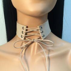 Tie Up Lace Up Velvet Choker - Beige  Adjustable...   https://nemb.ly/p/NJ1d4H_pb