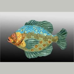 Crain Art Studio click the link now for more info. Fish Sculpture, Pottery Sculpture, Pottery Clay, Crab Art, Clay Fish, Fish Artwork, Ceramic Animals, Clay Animals, Biscuit