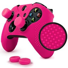 ParticleGrip Studded Skin Set for Xbox One (& One S) by Foamy Lizard – Patent Pending Silicone Skin Cover Antislip Studs Plus Matching Set of 4 AceShot Analog Thumbgrips (Pink) Video Games Xbox, Xbox 360 Games, Xbox One Controller, Control Xbox, Custom Consoles, Crazy Games, Xbox Console, Xbox One S, Online Games