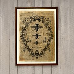 Bee decor Insects print Animal poster Dictionary page by wordantique on Etsy https://www.etsy.com/listing/199071424/bee-decor-insects-print-animal-poster