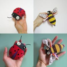 bichos bugs  two brooches  CUSTOM order for Silvia