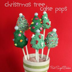 Pint Sized Baker: How to Make Christmas Tree Cake Pops