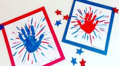 C is for Crafts: Handprint Fireworks Gather up the kids for this simple patriotic handprint art project. Makes a great 4th of July craft!