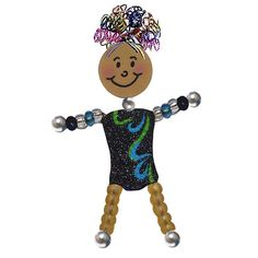 Curly Girlz Gymnast Pin by curlygirlzpins. Different color leotards available! #CurlyGirlz #Gymnastics