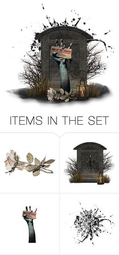 """""""Get Your Tickets From Your Local GraveYard"""" by sanestyle ❤ liked on Polyvore featuring art"""
