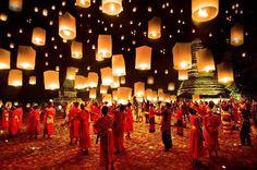 L´incanto della suggestiva #festa delle #lanterne in #Thailandia