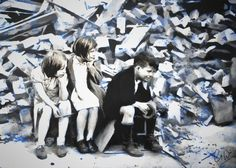 Blitz Children - Digitally Manipulated Photograph - Limited Edition of 10 by GregWatkissArt on Etsy